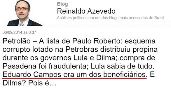Revista veja Aecio Neves Reinaldo Azevedo