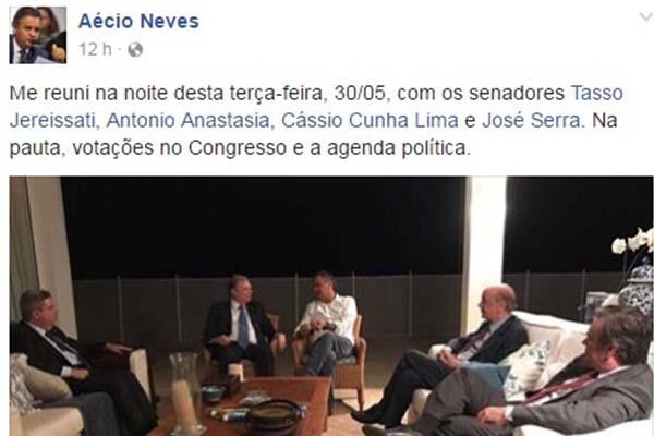Aecio facebook