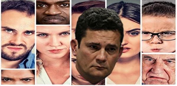 Resultado de imagem para rejeição de  Sérgio Moro