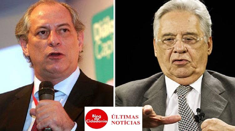 Ciro Gomes e Fernando Henrique Cardoso
