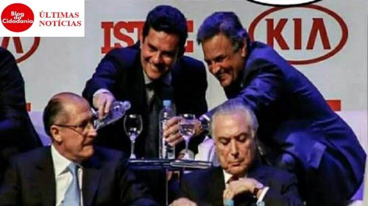 Golpistas, alckmin, teme,r aécio, Moro,