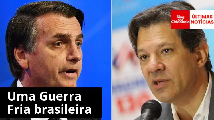 Resultado de imagem para Bolsonaro x Haddad pesquisas apontam para disputa plebiscitária no segundo turno