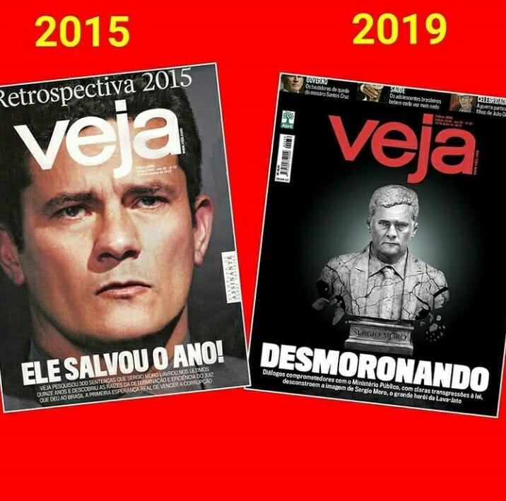 Telemacos Frente a ti Doncella  Veja, que ajudou a transformar Moro em herói, agora faz sua caveira - Blog  da Cidadania